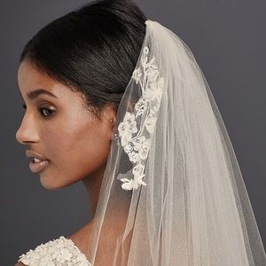 White Cathedral Sequin Lace Veil